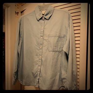 """Forever 21 LA """"Distressed"""" Blue Jean Shirt in EUC"""